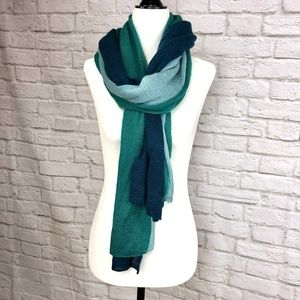Talbots Green Blue Scarf